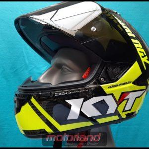 Motorradhelm Integralhelm KYT NX-Race – Carbon Neongelb Neu in S