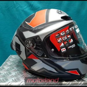 Motorradhelm Integralhelm KYT TT-COURSE Electron grey/red YSTT0002.X