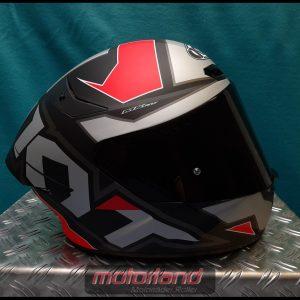 Motorradhelm Integralhelm KYT TT-COURSE Electron grey/red inkl. dunklem Visier